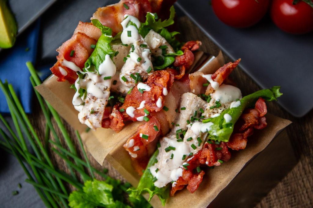 bacon taco shells