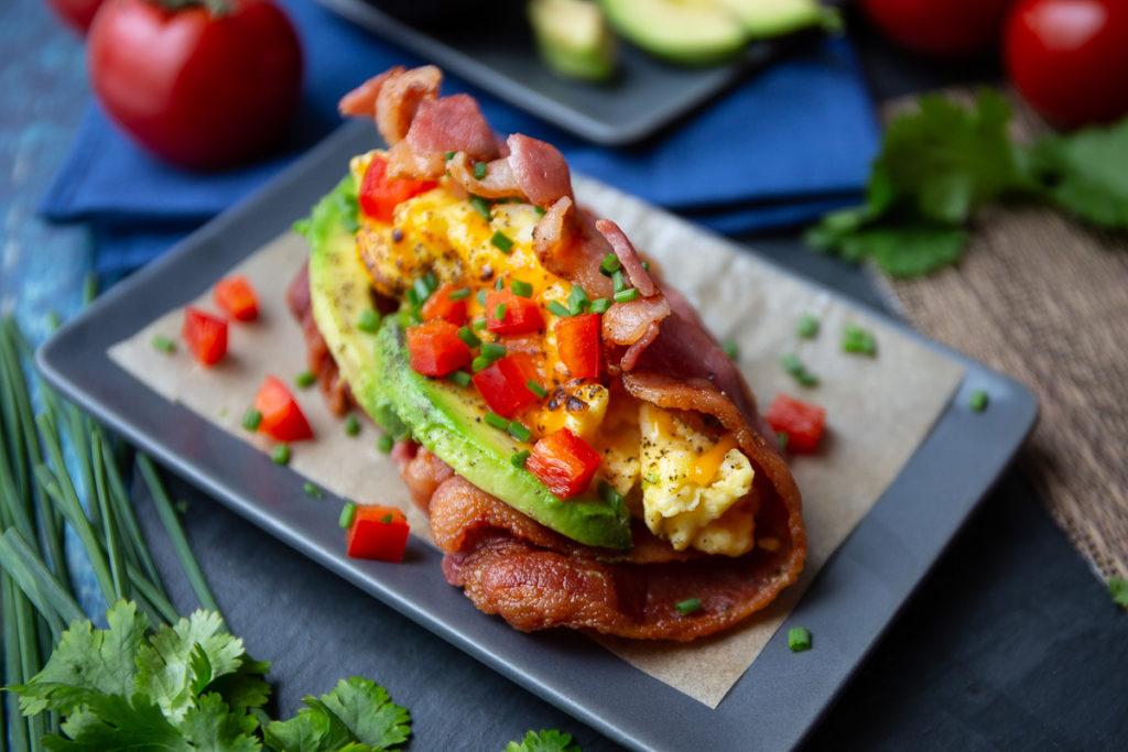 bacon taco shell