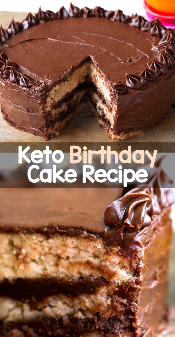 Flourless Low Carb Birthday Cake