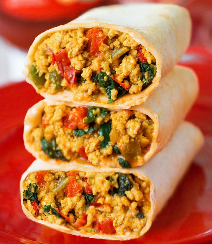 Easy Vegetarian Breakfast Burritos
