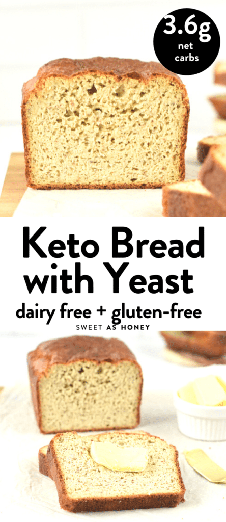Almond flour keto bread with yeast