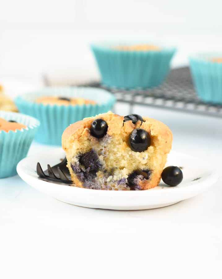 the best Keto blueberry muffins
