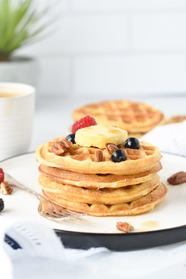 Coconut flour waffles keto