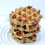 Zucchini Buckwheat Waffles. An easy clean eating recipe.