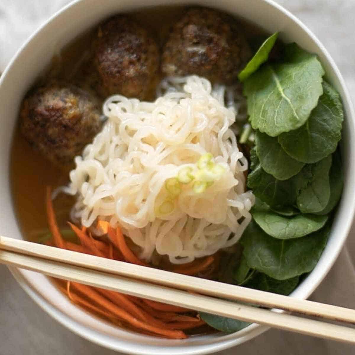 keto meatball soup w noodles - Shirataki: The True Keto Approved Asian Noodle