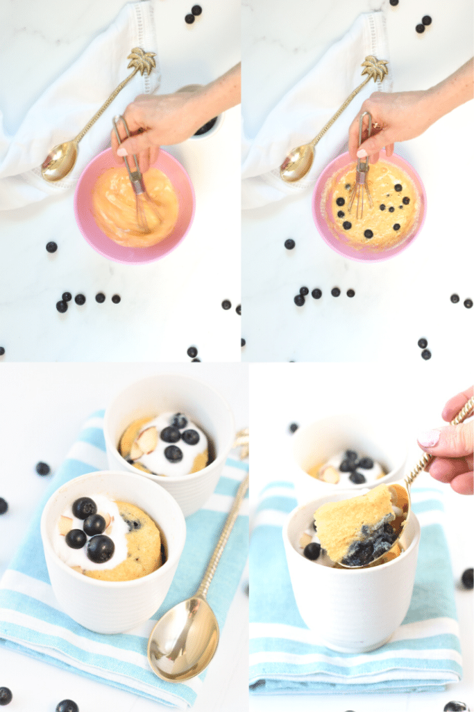 How to make keto blueberry muffins IN A MUG