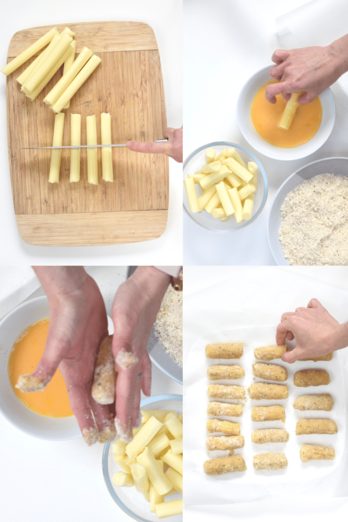 How to make keto mozzarella sticks