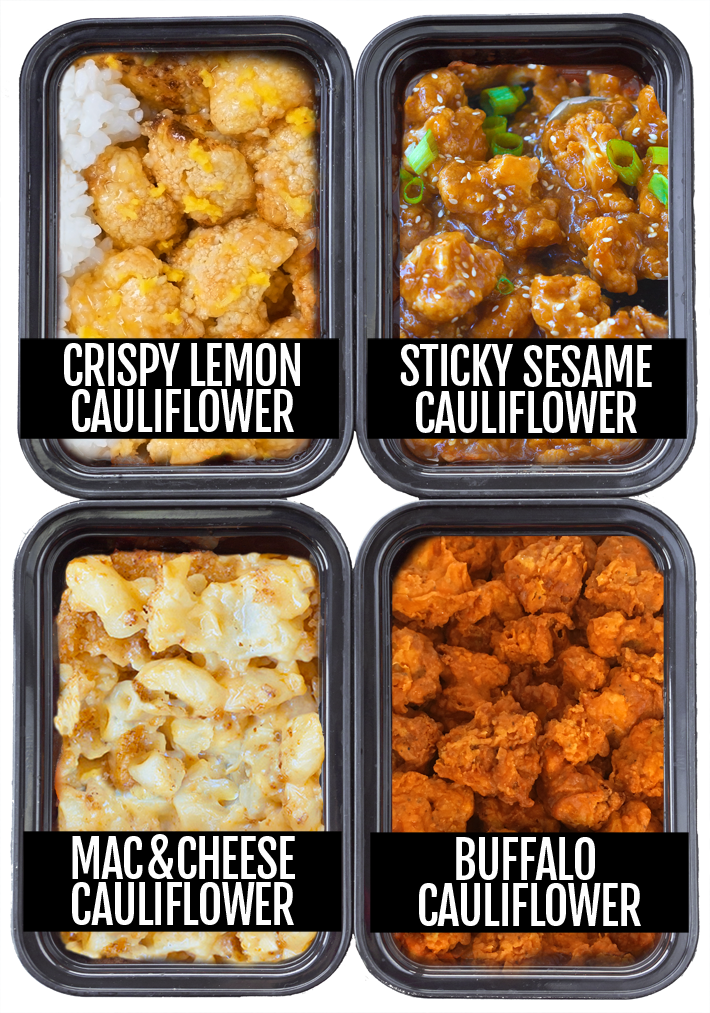 Cauliflower Meal Prep 4 Ways